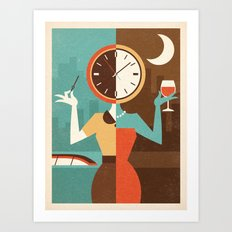 Wine Time Art Print