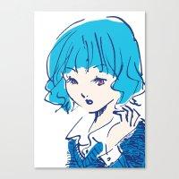 SHANNON GOT A NEW HAIR STYLE Canvas Print