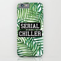 iPhone Cases featuring Serial Chiller by Text Guy