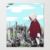child, seeking something  Canvas Print