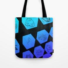 Sea Creature Cubes Tote Bag