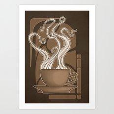 Coffee Nouveau Art Print