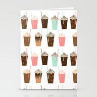 Iced Coffee - Latte Moch… Stationery Cards