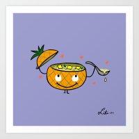 Pineapple Curry Art Print