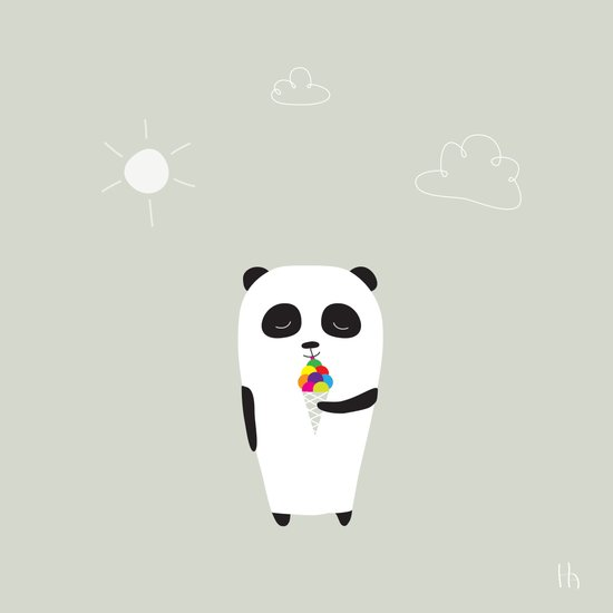 The Happy Ice Cream Art Print
