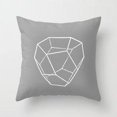 Tetrahedral Pentagonal Dodecahedron Throw Pillow
