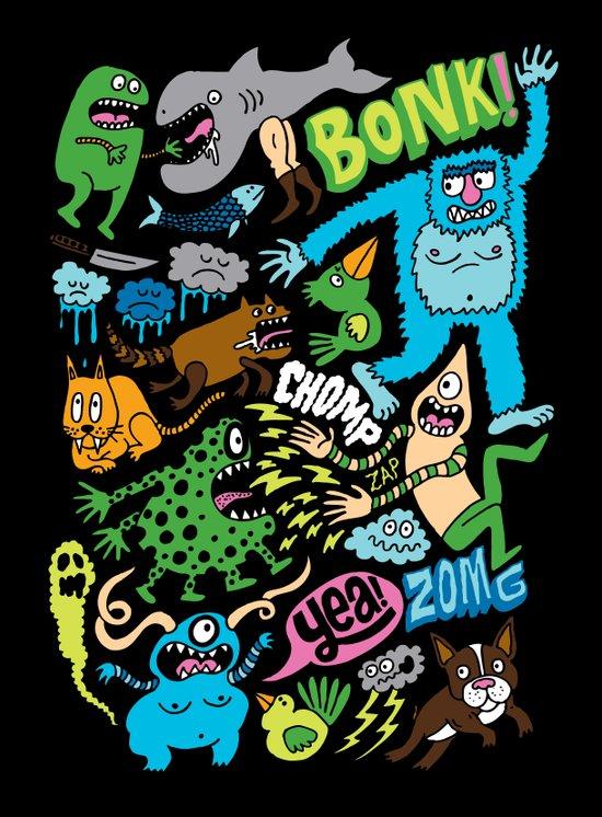 BONK! Art Print