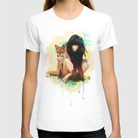 Fox Love Womens Fitted Tee White SMALL