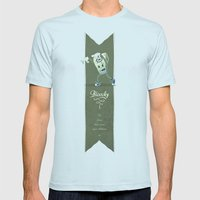 Bloochy Mens Fitted Tee Light Blue SMALL