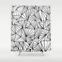 Ab Fan #2 White Shower Curtain