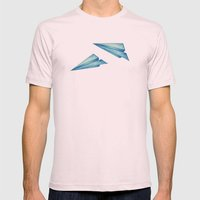 High Flyer | Origami | S… Mens Fitted Tee Light Pink SMALL