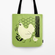 Hen And Chick Tote Bag