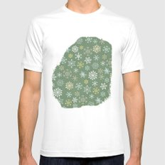 christmas snowy green Mens Fitted Tee SMALL White