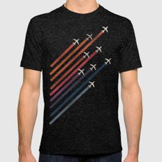 Aerial Acrobat Mens Fitted Tee Tri-Black SMALL