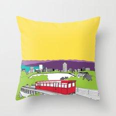 Wellington, New Zealand Throw Pillow