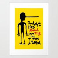 Best Lies Art Print