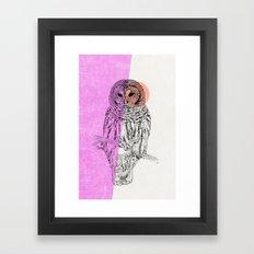 Techno Owl Framed Art Print