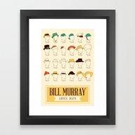 Framed Art Print featuring Bill's Hat Collection by Derek Eads