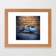 Blue Vespa, Italy Framed Art Print