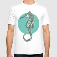 Seahorse Mens Fitted Tee White SMALL