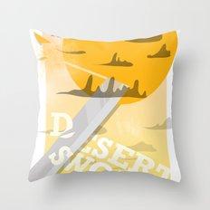 Desert Swordsman Throw Pillow