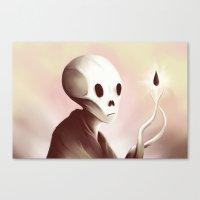 oil worshipper Canvas Print