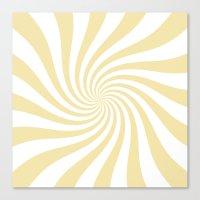 Swirl (Vanilla/White) Canvas Print