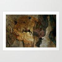 Cave Man Art Print