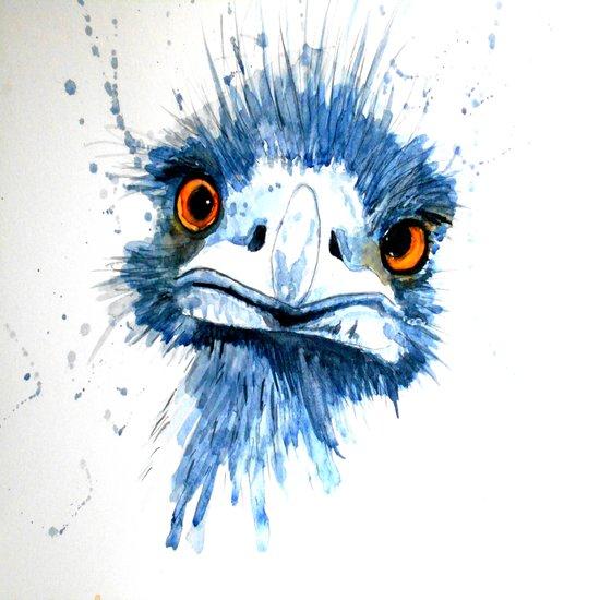 PEE PEE the Emu Art Print