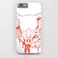 iPhone & iPod Case featuring Flower Power Skull by Amanda Dahlgren Art