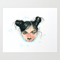Bjørk in Milk Art Print