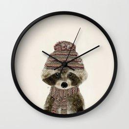Wall Clock - little indy raccoon - bri.buckley