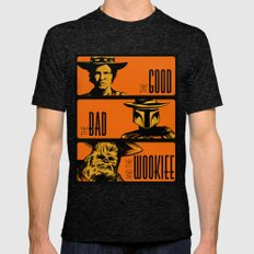 The Good, the bad and the wookiee Mens Fitted Tee Tri-Black SMALL