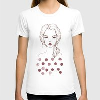 Marsala Womens Fitted Tee White SMALL