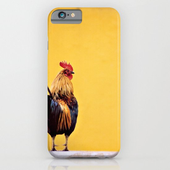 Rooster Against Yellow Wall iPhone & iPod Case
