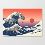 Canvas Print featuring The Great Wave Of Englis… by Huebucket