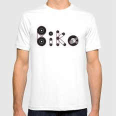 Bike Gear Mens Fitted Tee SMALL White