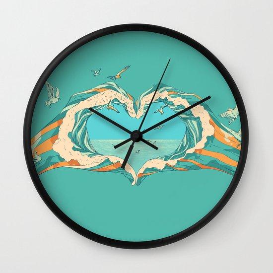 My Heart & The sea  Wall Clock