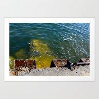 Break Water Art Print