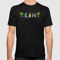 Aloha Mens Fitted Tee Tri-Black SMALL