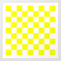 Art Prints featuring Checker (Yellow/White) by 10813 Apparel