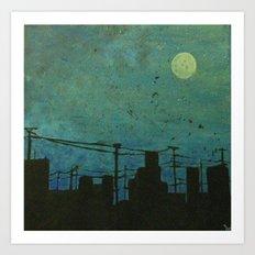 Moon Lit  Art Print