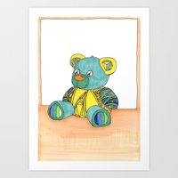 Teddy Greeting card Art Print