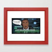 Starling City News Framed Art Print