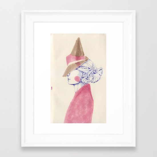 A Touch of Pink Framed Art Print