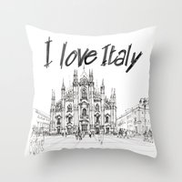 Duomo di Milano - schizzo Throw Pillow