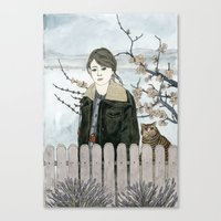 Early Spring Walk Canvas Print