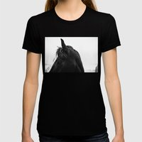 Horse Womens Fitted Tee Black SMALL
