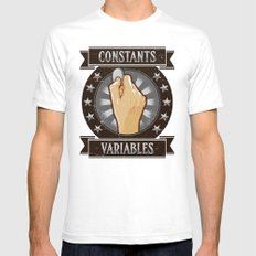 Constants & Variable Mens Fitted Tee White SMALL
