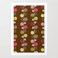 Linear Dots Art Print